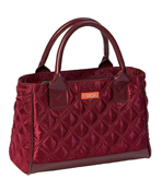 Sachi Burgundy Quilted Lunch Purse