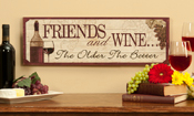 Giftcrafts Friends and Wine…Wooden Wall Sign