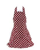 Burgundy Polka Dot Pattern Apron
