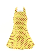 Lime with Pink Polka Dot Pattern Apron
