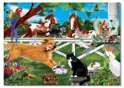 Playful Pets Cardboard Jigsaw Puzzle