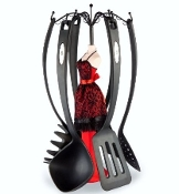 Moulin Rouge Ladle Lady 6 Piece Utensils Set by Wild Eye Design