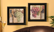 Giftcraft Set of Two Framed Grape Prints