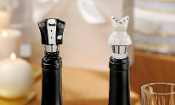 GiftCraft Polystone Bride & Groom Wine Bottle Stoppers