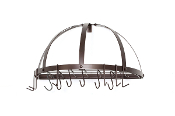 Old Dutch Pot Rack w/ Grid & 12 Hooks