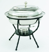 Oval Stainless Steel Chafing Dish, 6 Quarts