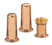 Solid Salt and Pepper Set, 2-Inch, Copper