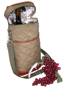 Picnic Gift Brandy Insulated Two Bottle Wine Duffel