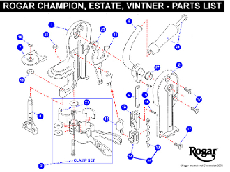 Rogar Champion Wine Opener Replacement Parts