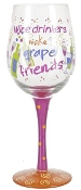 Ganz Wine Glass - Wine Drinkers Make Grape Friends