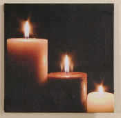 Candle Framed Canvas Print w/ LED Lighting
