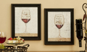 GiftCraft Framed Print - Wine Glass Set of 2