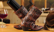 GiftCraft Cowboy Boot Wine Holder
