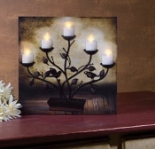 Lighted Tree Candelabra Canvas