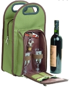 Symphony Two Person Insulated Wine Tote - Black