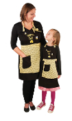 Queen Bee and Busy Bee Apron (Set of 2)