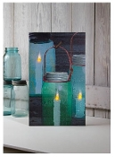 Lighted Canning Jar Canvas