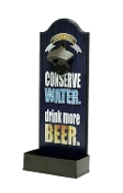 Black and Bronze beer opener, Conserve water drink more beer