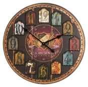 Vineyard Cabernet Wall Clock
