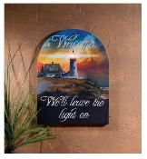 Lighted Lighthouse Welcome Canvas