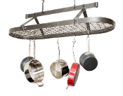 4' Oval Pot Rack with Grid