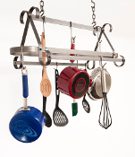 Décor Compact Scroll Hanging Pot Rack
