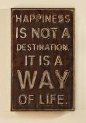 Happiness Wall Sign
