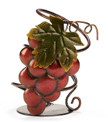 Brown and Red Metal Grape Wine Bottle Holder