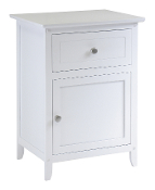 Night Stand Accent Table with Drawer