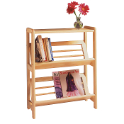 Bookshelf with Slanted Shelf