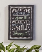 Chalk Talk Canvas Wall Print, Whatever Makes You Smile