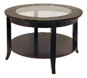 Genoa Coffee Table, Glass inset and shelf