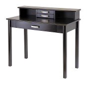 Liso 2pc Home Office Set, Computer Desk with Hutch