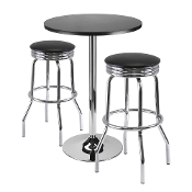 "Summit 3-Pc Bar Table Set, 24"" Table and 2 Stools"
