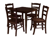 Groveland 5pc Square Dining Table with 4 chairs