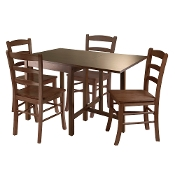 Lynden 5pc Dining Table with 4 Ladder Back Chairs