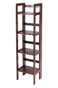4-Tier Folding Shelf, Narrow