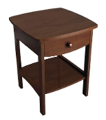 Curved End table/Night Stand with one drawer