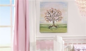 The Signing Tree Canvas Wall Decor w/ Felt Tip Pen, Baby Girl