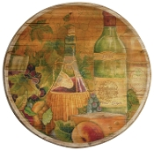 Lazy Susan Hand Crafted Wood, 16-Inch, Tuscan Wine
