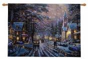 Thomas Kincade Fiber Optic Wall Hanging-Memories of Christmas