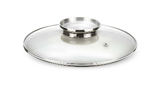 Pensofal Glass Cookware Lid w/ Stainless Steel Aroma Knob 7""