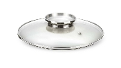 Pensofal Glass Cookware Lid w/ Stainless Steel Aroma Knob 6-1/2""