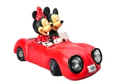 Disney Garden LED Statue, Mickey and Minnie Mouse Sports Car