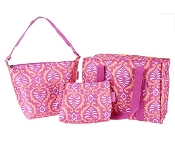 Sachi Set of 3 Multi-Shaped Bags in Pink, Black or Blue