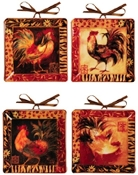 Safari Rooster Ceramic Mini Plates
