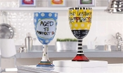 Ceramic Sentiment Wine Glasses