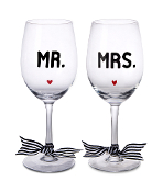 Mr. & Mrs. Wine Glass Set