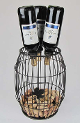Industrial Evolution 3 Bottle Tabletop Wine Rack Finish: Texture