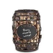 Cork Caddy Chalkboard Wine Barrel, 9.75 Inch